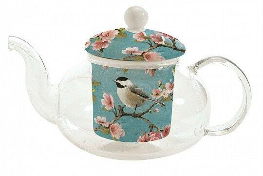Подарок Nuova R2S Стеклянный заварник с керамической вставкой для чая «Blossom» R0351#BLOS - фото 1