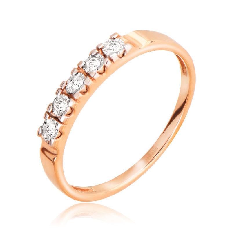 Ювелирный салон Jeweller Karat Кольцо золотое с бриллиантами арт. 3212824/9 - фото 1