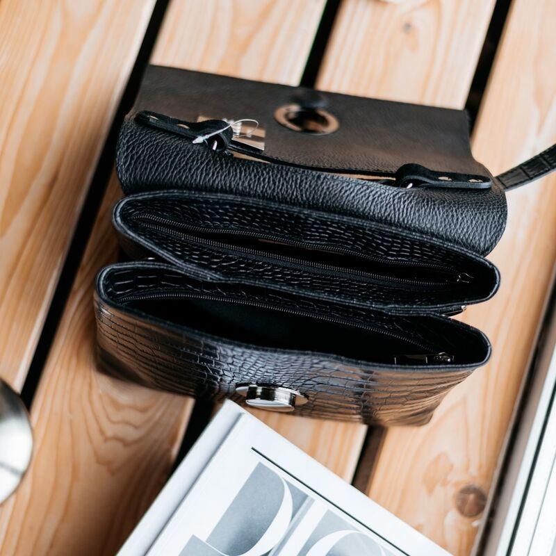 Магазин сумок Vezze Кожаная женская сумка C00543 - фото 2
