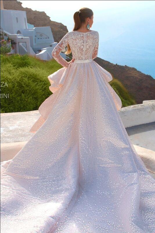 Свадебный салон Rafineza Свадебное платье Roberta со шлейфом - фото 1