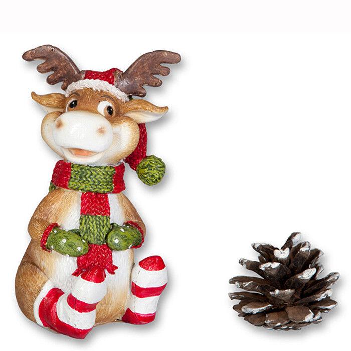 Подарок на Новый год mb déco Статуэтка новогодняя «Зимний олень» 61439/AMS - фото 1