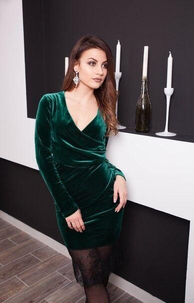 Вечернее платье Shkafpodrugi Бархатное платье с кружевом - фото 2