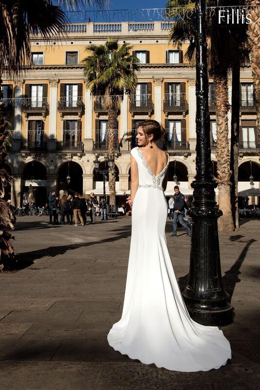 Свадебное платье напрокат Bonjour Платье свадебное «Fillis» из коллекции LA POESIE 2017 - фото 2