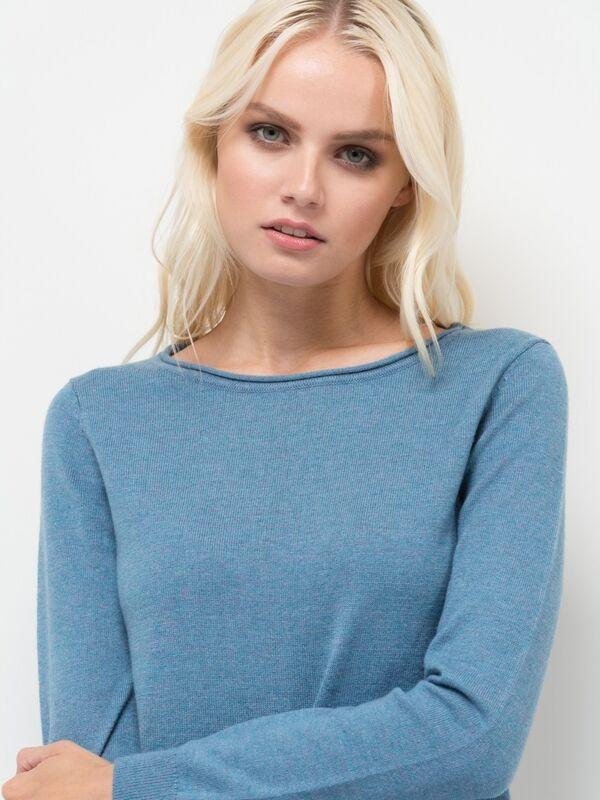 Кофта, блузка, футболка женская Sela Джемпер женский JR-114/1220-7442 голубой - фото 2