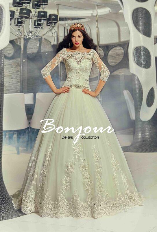Свадебное платье напрокат Bonjour Платье свадебное «Queen» из коллекции LAMBRE 2017 - фото 1