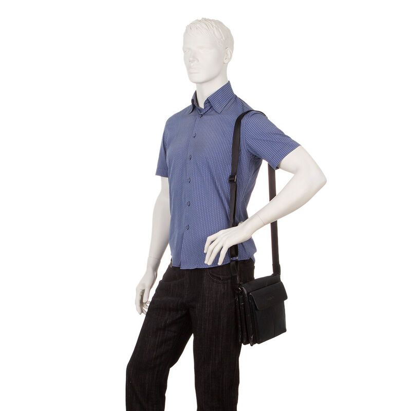Магазин сумок Poshete Сумка мужская черная 186-7040А - фото 4