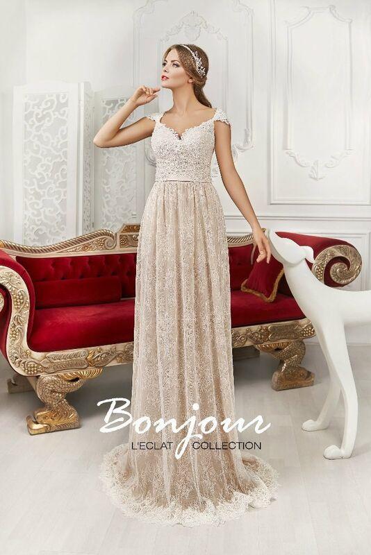 Свадебное платье напрокат Bonjour Платье свадебное «Felicia» из коллекции L'ECLAT 2016 - фото 1