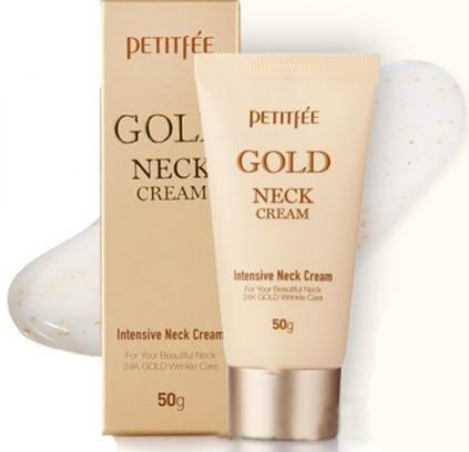 Уход за лицом PETITFEE Крем для кожи шеи и области декольте, антивозрастной, с золотом - фото 1
