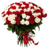 Магазин цветов Ветка сакуры Букет из роз № 15 (101 роза) - фото 1