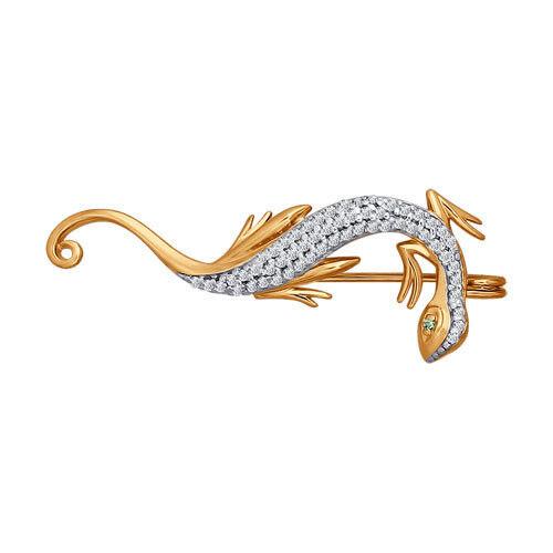 Ювелирный салон Sokolov Брошь из золота 040153 - фото 1