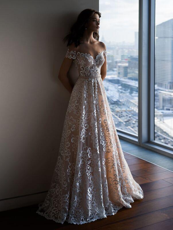 Свадебное платье напрокат Natalia Romanova Свадебное платье  Letitsiya - фото 1