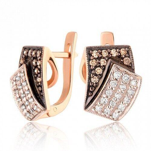 Ювелирный салон Jeweller Karat Серьги золотые с бриллиантами арт.1222643ш - фото 1
