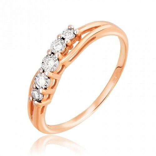 Ювелирный салон Jeweller Karat Кольцо золотое с бриллиантами арт. 3212835/9 - фото 1