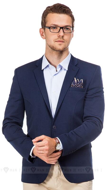 Пиджак, жакет, жилетка мужские Keyman Пиджак мужской синий трикотажный - фото 1