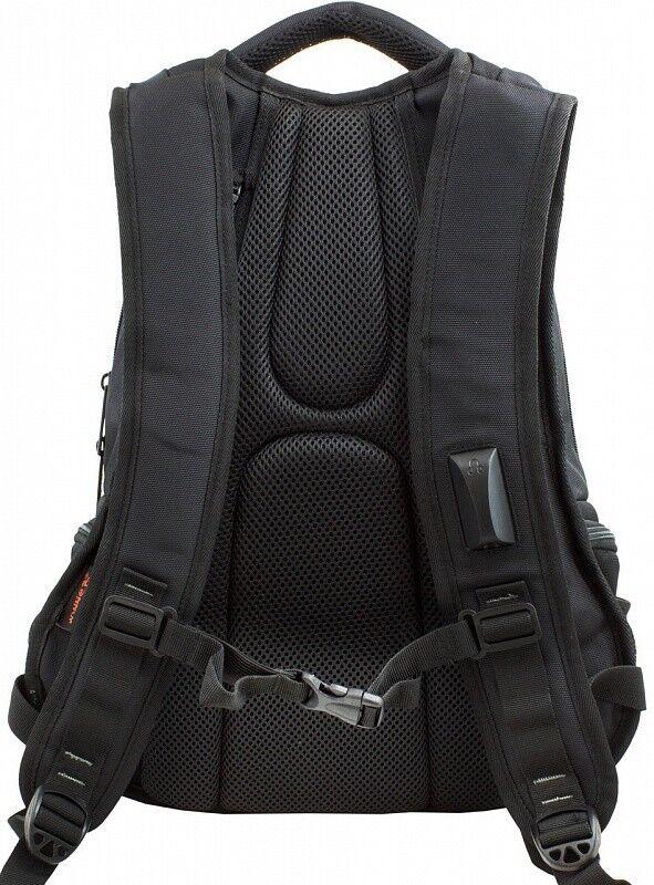 Магазин сумок Winner Рюкзак школьный черно-зеленый 387 - фото 3