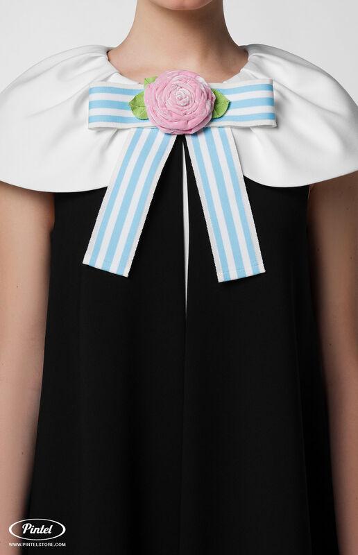 Платье женское Pintel™ Элегантное чёрное миди-платье А-силуэта Paloma - фото 5