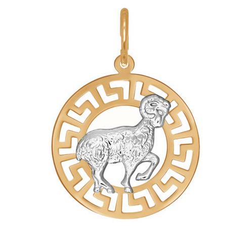 Ювелирный салон Sokolov Подвеска «Знак зодиака Овен» из золота 031294 - фото 1