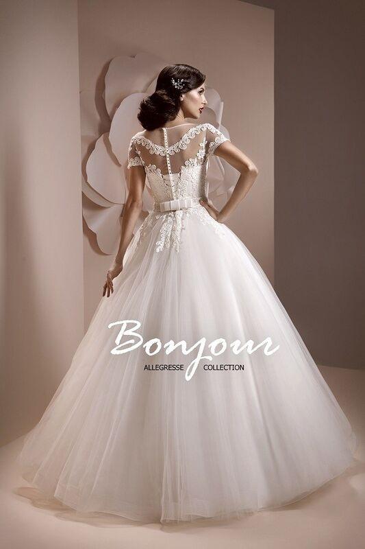 Свадебное платье напрокат Bonjour Платье свадебное «Lorena» из коллекции ALLEGRESSE 2017 - фото 2