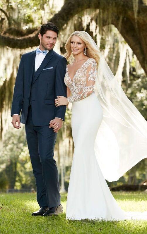 Свадебное платье напрокат Essense of Australia Платье свадебное Blake Sanja - фото 6