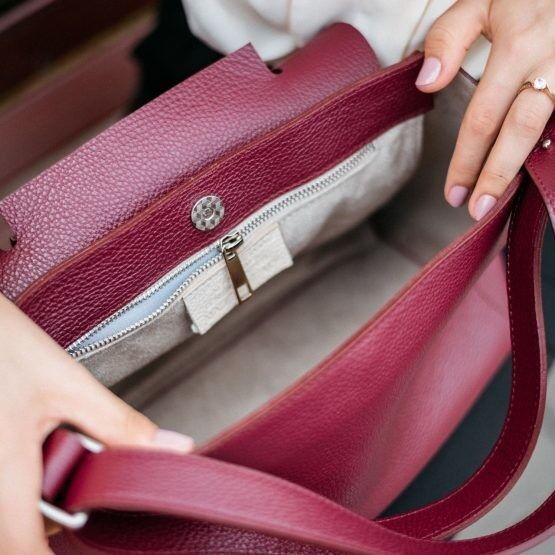 Магазин сумок Vezze Кожаная женская сумка C00515 - фото 3