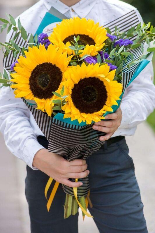"""Магазин цветов Долина цветов Букет  """"Солнечный букет"""" - фото 3"""