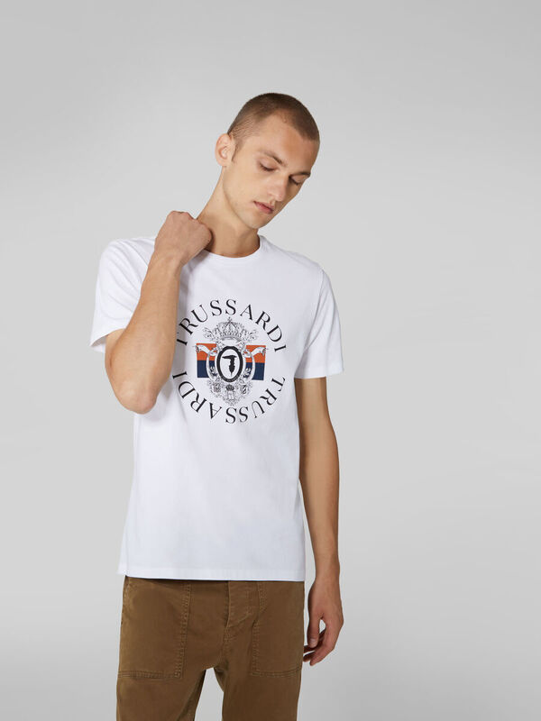 Кофта, рубашка, футболка мужская Trussardi Футболка мужская 52T00388-1T003076 - фото 1