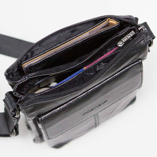 Магазин сумок Poshete Сумка мужская черная 186-7040А - фото 3