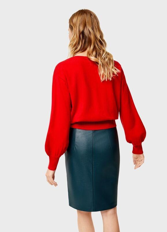 Кофта, блузка, футболка женская O'stin Укороченный джемпер LK4U12-16 - фото 2
