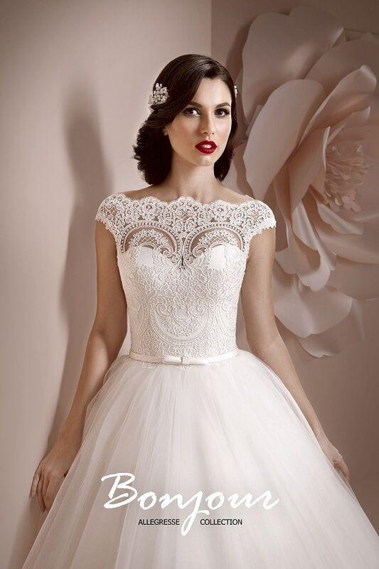 Свадебное платье напрокат Bonjour Платье свадебное «Elmira» из коллекции ALLEGRESSE 2017 - фото 1