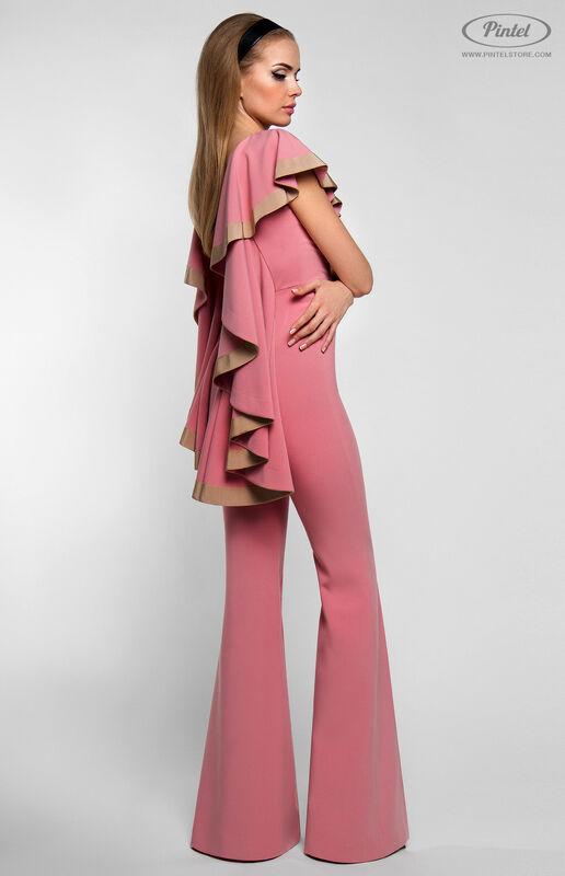 Брюки женские Pintel™ Приталенный розовый макси-комбинезон Linnea - фото 2