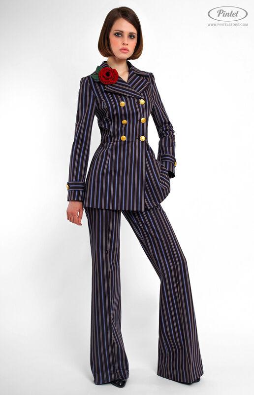 Костюм женский Pintel™ Двубортный брючный костюм Geeah - фото 1