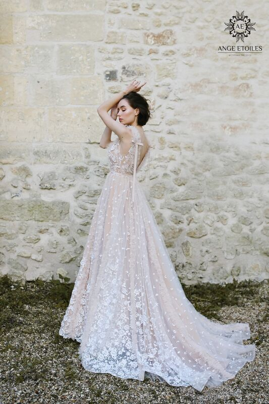 Свадебное платье напрокат Ange Etoiles Платье свадебное AEriality Collection Fern - фото 3