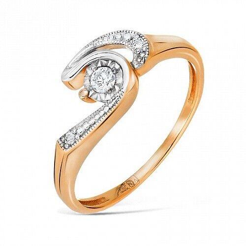 Ювелирный салон Jeweller Karat Кольцо золотое с бриллиантами арт. 3213398/9 - фото 1