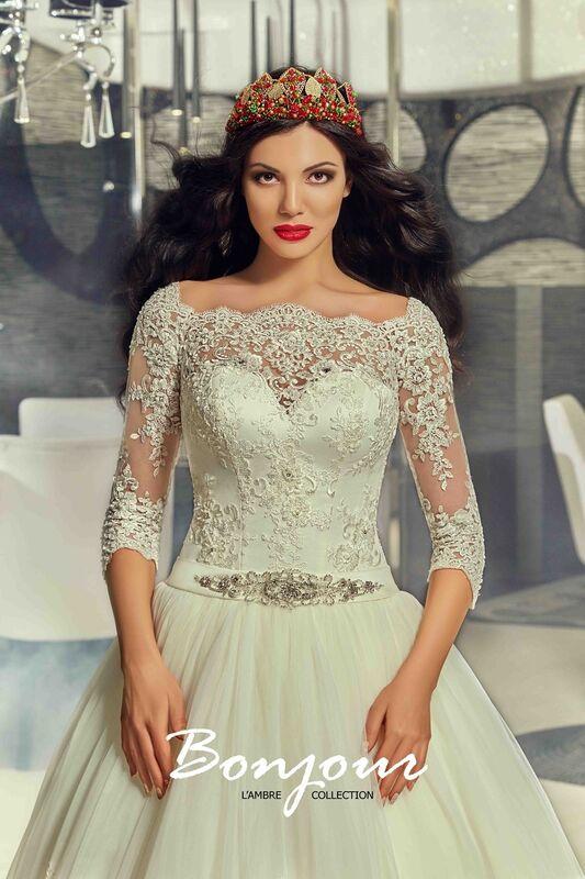 Свадебное платье напрокат Bonjour Платье свадебное «Queen» из коллекции LAMBRE 2017 - фото 3