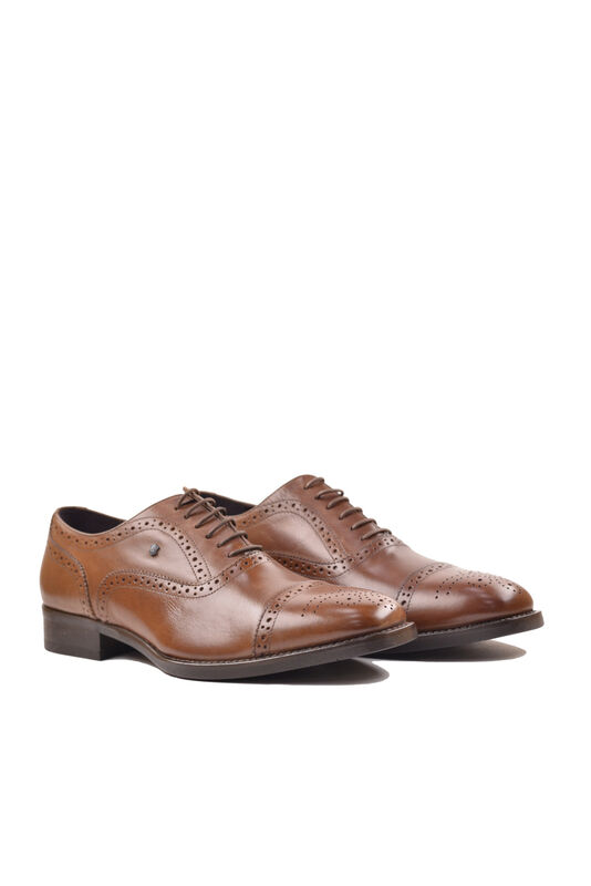 Обувь мужская HISTORIA Туфли оксфорд броги коричневые Sh.Br.73610 - фото 4