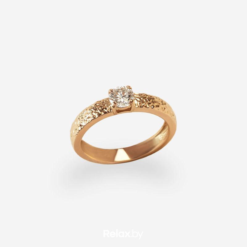 Ювелирный салон Белорусские Бриллианты Кольцо из золота со вставкой бриллиант синт. 21010033 - фото 1
