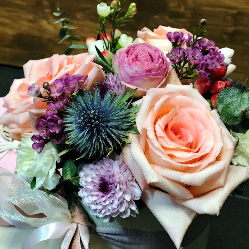 Магазин цветов Кошык кветак Коробочка классическая №3 - фото 1