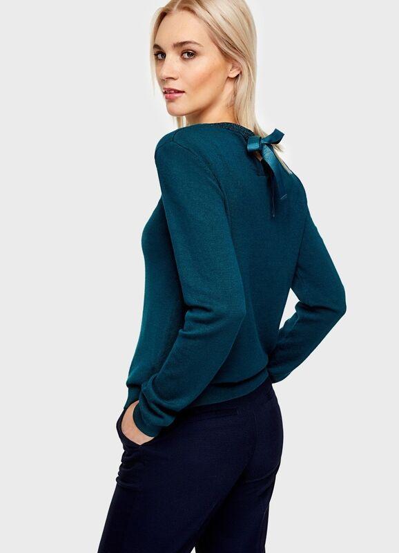 Кофта, блузка, футболка женская O'stin Джемпер с завязками LK6U11-47 - фото 2
