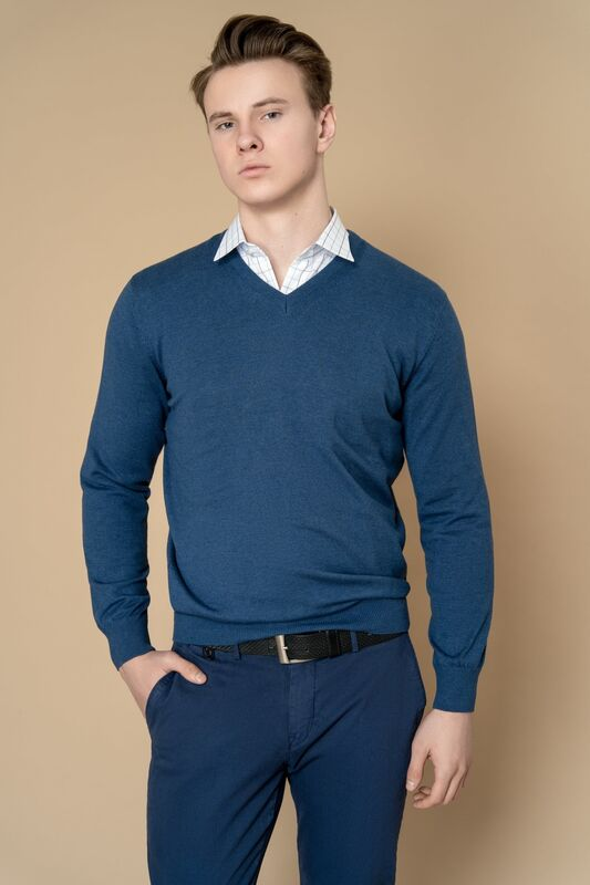 Кофта, рубашка, футболка мужская Etelier Джемпер мужской  tony montana T2001 - фото 5