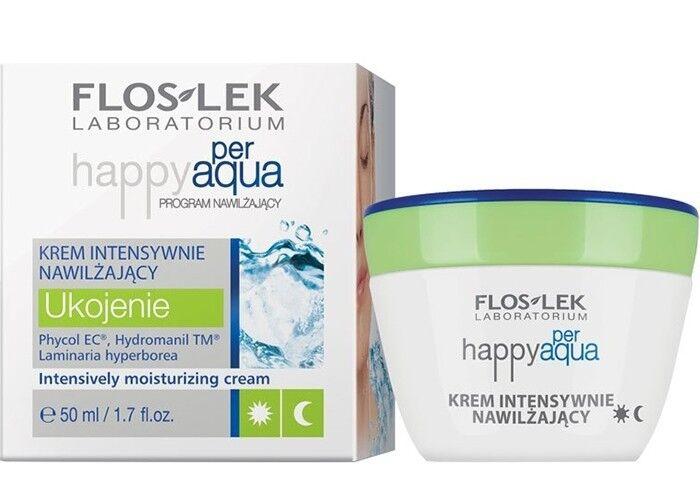 Уход за лицом Floslek Интенсивно увлажняющий крем Happy per Aqua Intensively moisturizing cream, 50 мл - фото 1