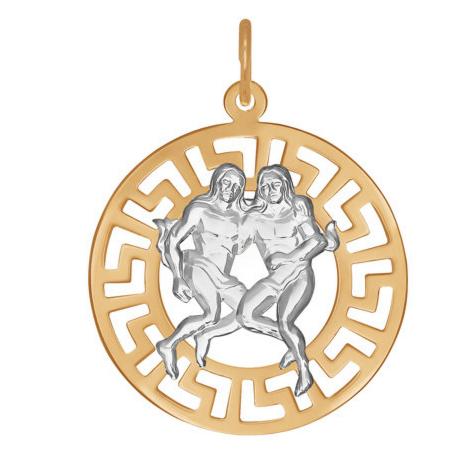Ювелирный салон Sokolov Золотая подвеска «Знак зодиака Близнецы» 031237 - фото 1