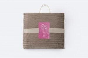 Подарок Ecotex Декоративный флисовый плед 150х200 Bali Коричневый - фото 2