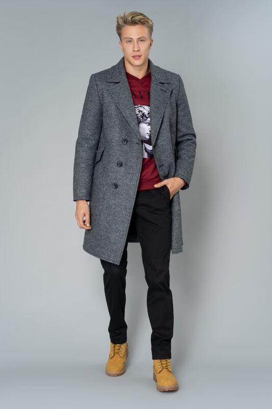 Верхняя одежда мужская Etelier Пальто мужское утепленное 6М-9103-1 - фото 1