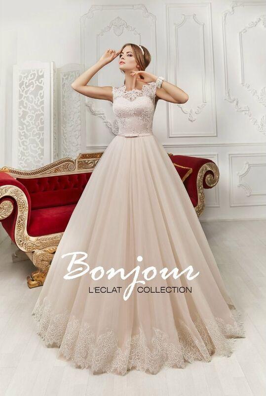 Свадебное платье напрокат Bonjour Платье свадебное «Lizi» из коллекции L'ECLAT 2016 - фото 1