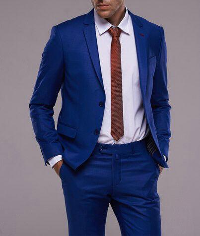 Костюм мужской Fabio Cassel Мужской костюм, цвет: ультрамарин (F2) - фото 1