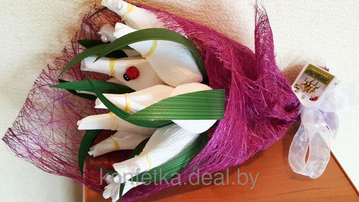 Подарок Konfetka Букет из конфет «Весенние тюльпаны» - фото 3