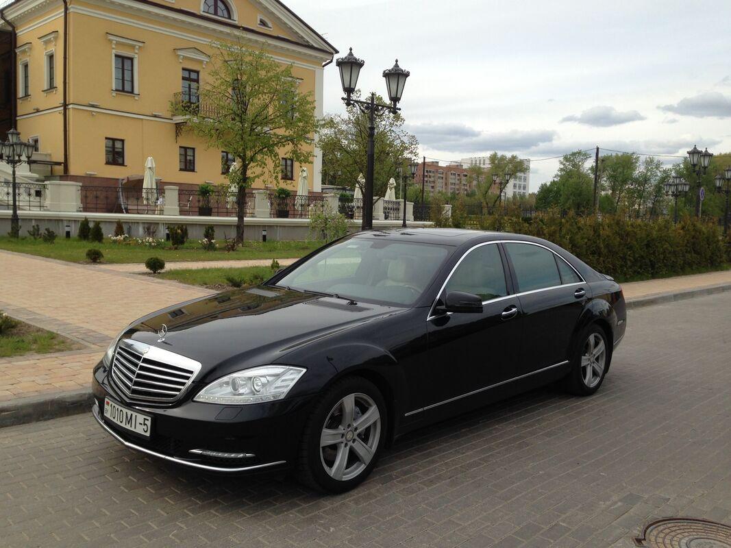 Аренда авто Mercedes-Benz S-class W221 long чёрный - фото 1
