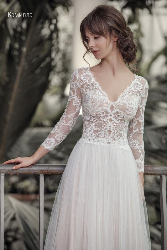Свадебное платье напрокат Vintage Платье свадебное «Камилла» - фото 3