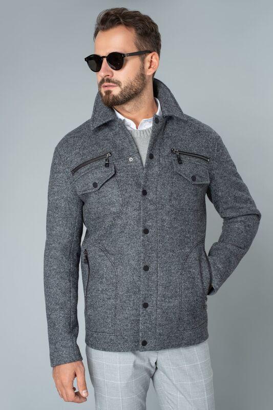 Верхняя одежда мужская Etelier Пальто мужское демисезонное 1М-9128-1 - фото 2
