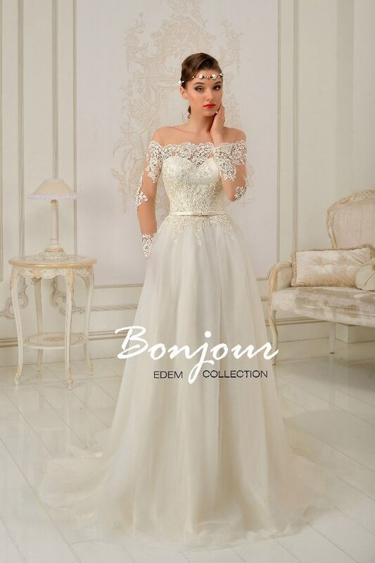 Свадебный салон Bonjour Платье свадебное «Freya» из коллекции EDEM 2016 - фото 1